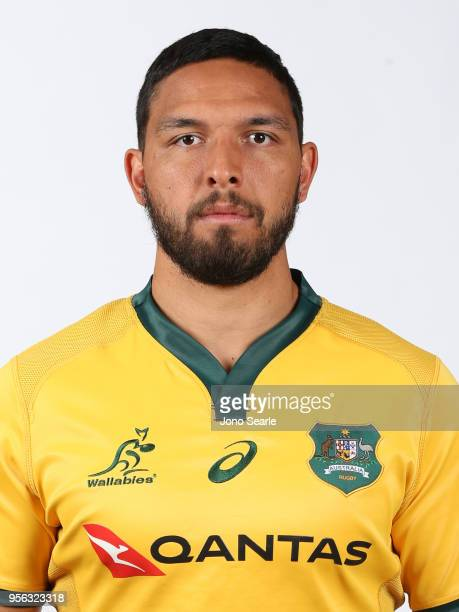 Curtis Rona poses during the Australian Wallabies headshot session on May 7 2018 in Gold Coast Australia