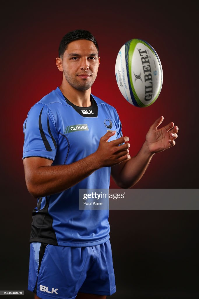 Curtis Rona poses during the Western Force Super Rugby headshots session on January 20, 2017 in Perth, Australia.