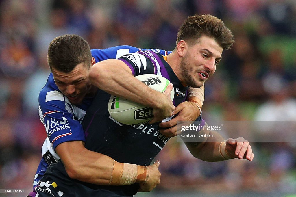 NRL Rd 4 - Storm v Bulldogs : News Photo
