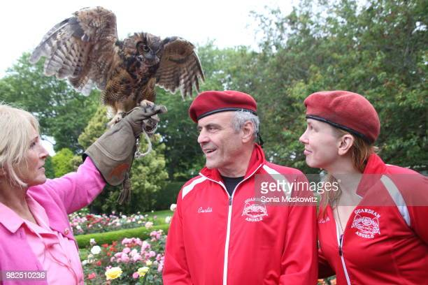Curtis Sliwa and Nancy Regula attend the 12th Annual Get Wild Summer Benefit on June 23 2018 in Southampton New York