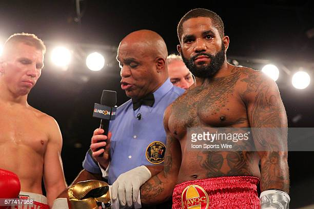 Curtis Stevens knocks out Patrick Majewski in 46 seconds of the First Round during their bout at the Resorts Hotel and Casino in Atlantic City New...