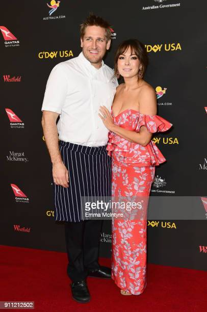 Curtis Stone and Lindsay Price attend 2018 G'Day USA Los Angeles Black Tie Gala at InterContinental Los Angeles Downtown on January 27 2018 in Los...