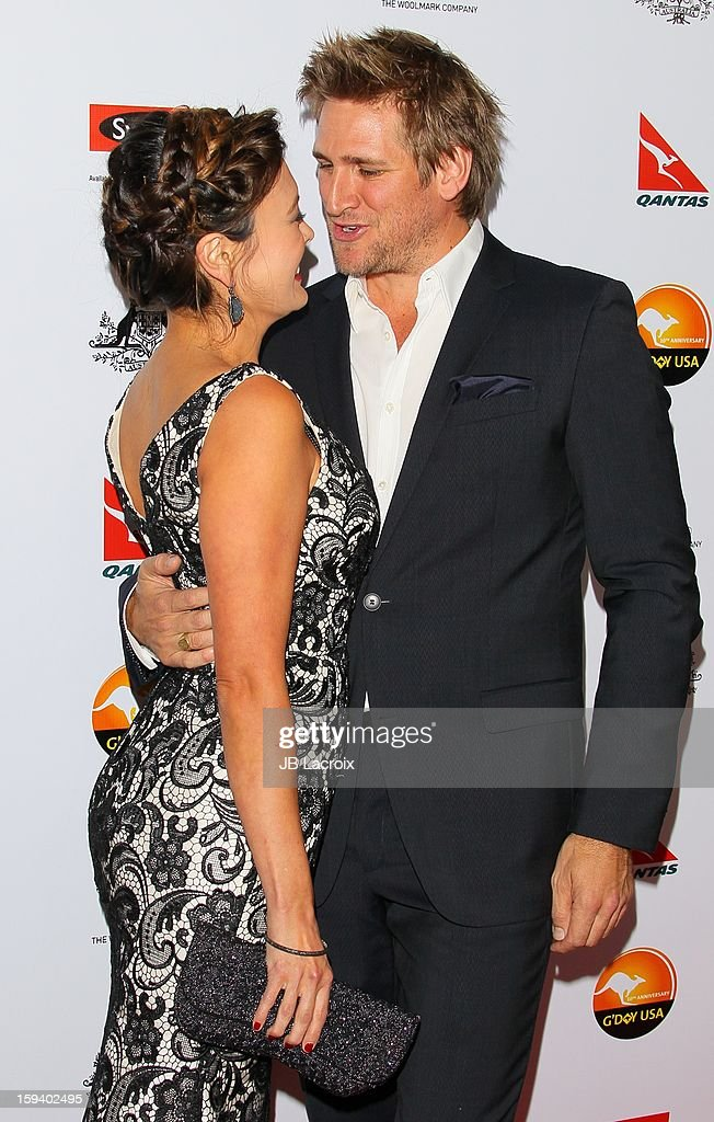 Curtis Stone and Lindsay Price attend the 2013 G'Day USA Black Tie Gala at JW Marriott Los Angeles at L.A. LIVE on January 12, 2013 in Los Angeles, California.