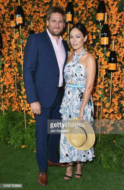 Curtis Stone and Lindsay Price attend the 9th Annual Veuve Clicquot Polo Classic Los Angeles at Will Rogers State Historic Park on October 6 2018 in...