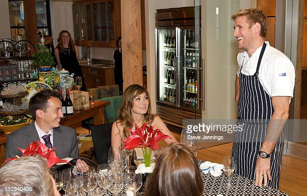 Curtis Stone speaks to guests at the Penfolds Premiere Grange Dinner at Cellar 360 at Ghiardelli Square on April 30 2010 in San Francisco California