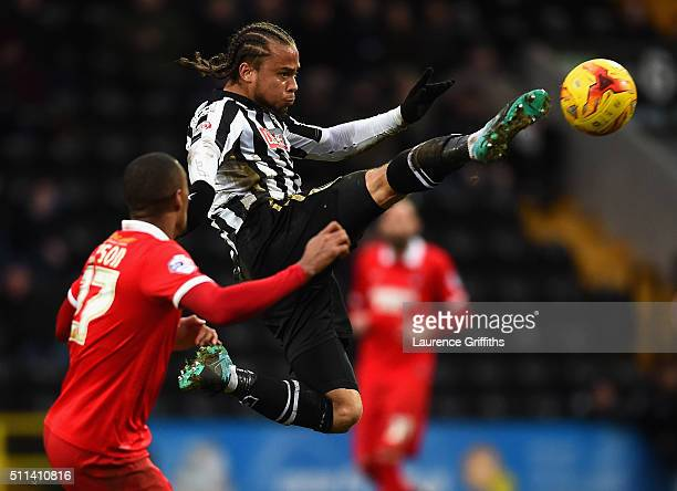 Curtis Thompson of Notts County in action during the Sky Bet League Two match between Notts County and Leyton Orient at Meadow Lane on February 20...