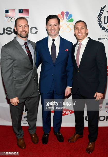 Curtis Tomasevicz Steven Langton Christopher Fogt attend the 2019 Team USA Awards at Universal Studios Hollywood on November 19 2019 in Universal...