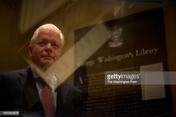 Curtis Viebranz, President and CEO of Mount Vernon stands next to the new George Washington document display case on Constitution Day, Monday,...