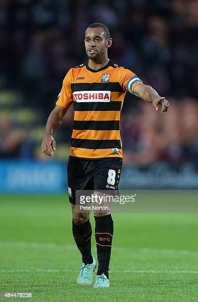 Curtis Weston of Barnet in action during the Sky Bet League Two match between Barnet and Northampton Town at The Hive on August 18 2015 in Barnet...