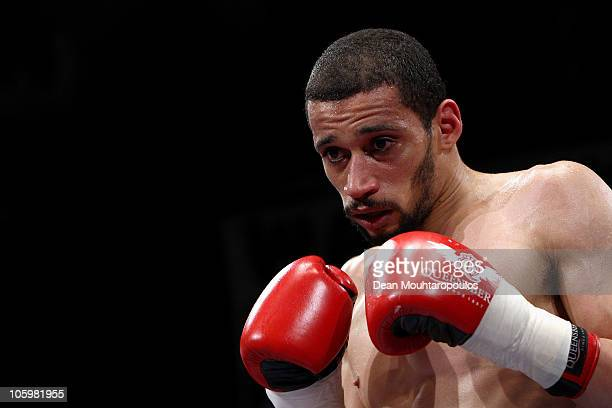 Curtis Woodhouse of Driffield in action at York Hall on October 23 2010 in London England