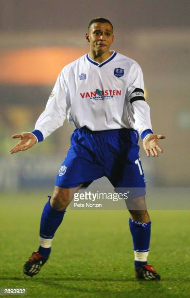 Curtis Woodhouse of Peterborough United calls for the ball during the LDV Vans Trophy match between Northampton Town and Peterborough United on...