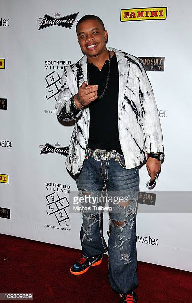 Curtis Young son of Dr Dre arrives at the afterparty for NBA superstar Kobe Bryant's hand and footprint ceremony held at Boulevard3 on February 19...
