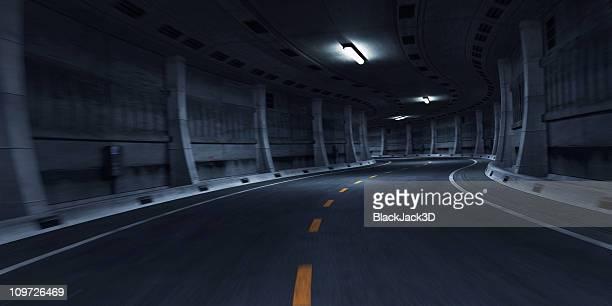 curva da estrada do túnel - túnel estrutura feita pelo homem - fotografias e filmes do acervo