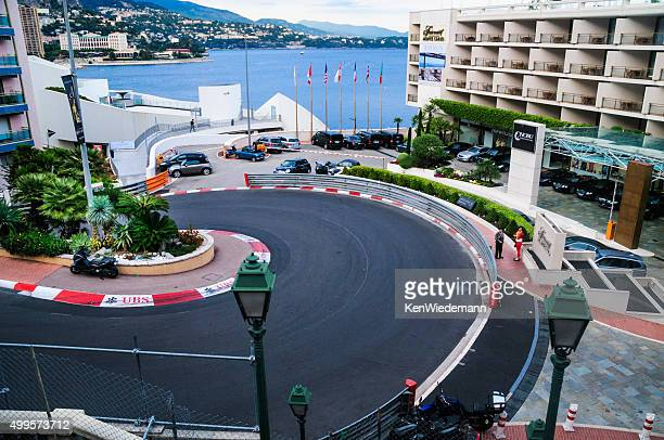 curve in the road - monaco stock pictures, royalty-free photos & images