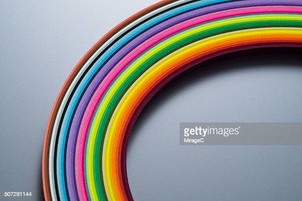 A Curve of Colorful Paper Stripes