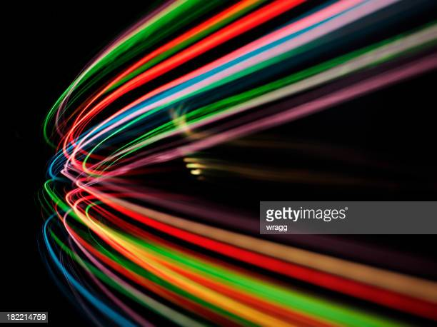 Curve of Coloured Lights