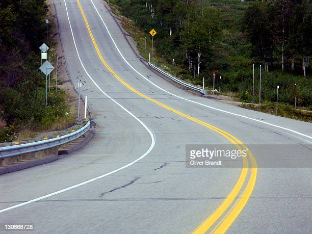 Curve on a highway, Quebec, Canada