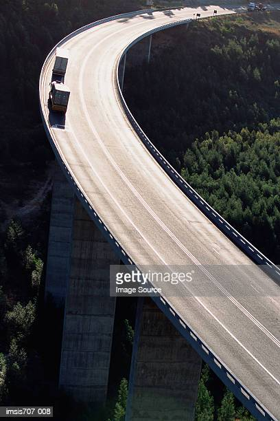 A curve on a suspended motorway