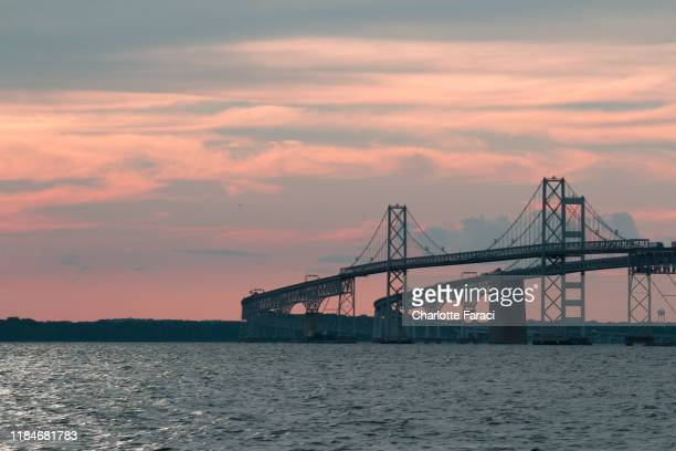 curve - bay bridge stock pictures, royalty-free photos & images
