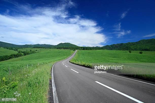 Curve road, Hokkaido Prefecture, Japan