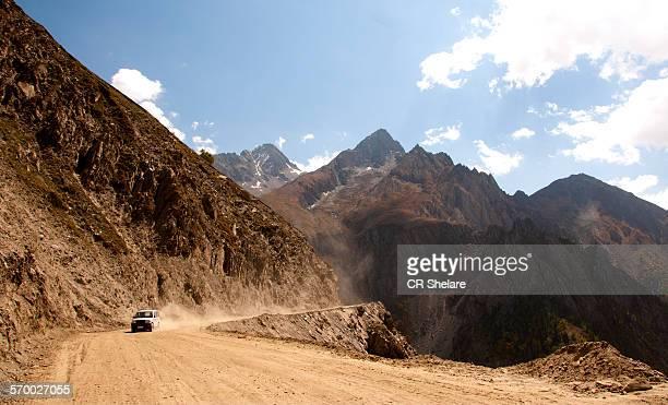 Curve road passing through a landscape,