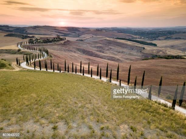 S curve tuscany