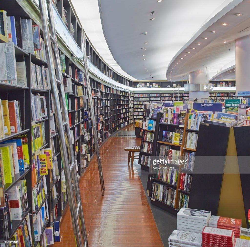 Kinokuniya Bookstore Bangkok Thailand Architect Kay Ngee Tan Architects 2014 Curved Bookshelf Corridor