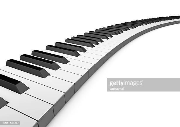 曲線のピアノキーボード