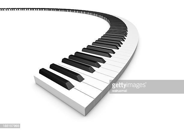 Curved keyboard piano
