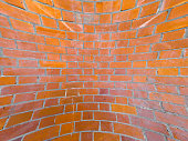 curved red brick wall texture useful