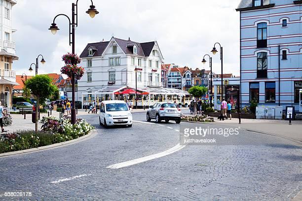 Curved road in De Haan