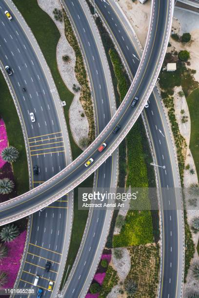 Curved roads from above, Dubai, United Arab Emirates