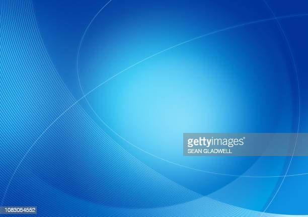 curves backdrop in blue - abstract backgrounds stock pictures, royalty-free photos & images