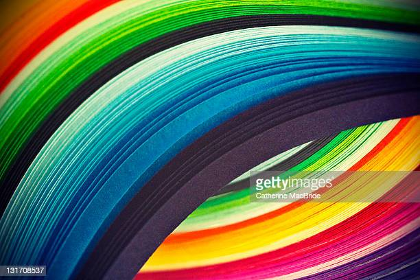 curves of colored paper - catherine macbride stockfoto's en -beelden