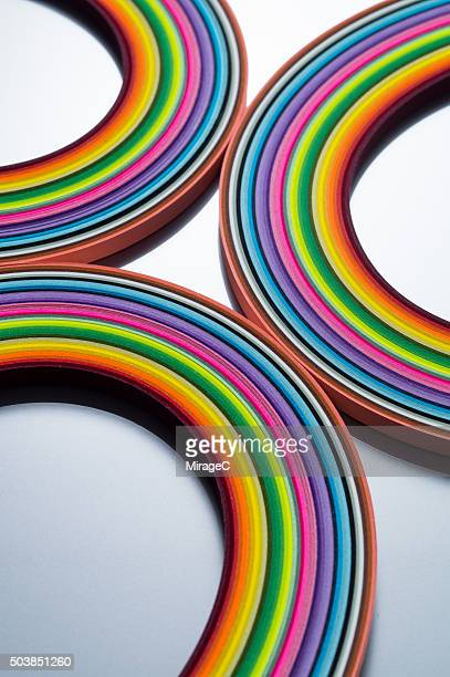 Curves of Colorful Paper Stripes
