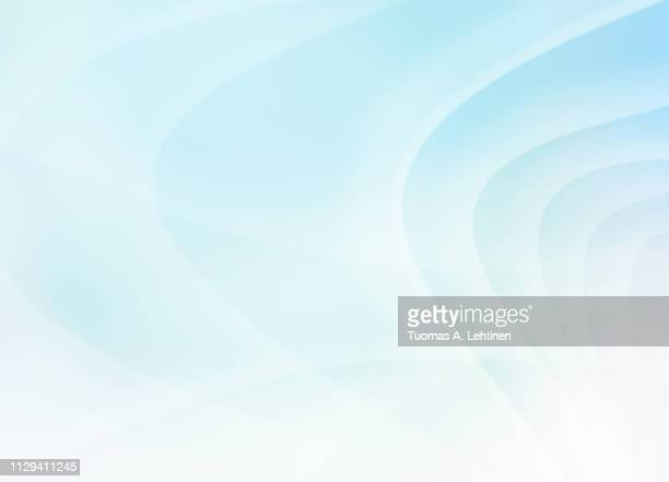 curvy and blurred white and turquoise lines - soft blue background stock pictures, royalty-free photos & images