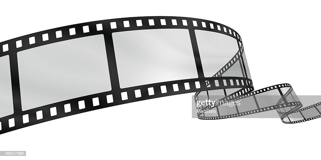 Curvy film reel : Stock Photo