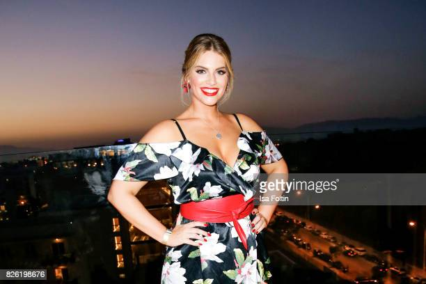Curvy model Angelina Kirsch attends the Remus Lifestyle Night on August 3 2017 in Palma de Mallorca Spain