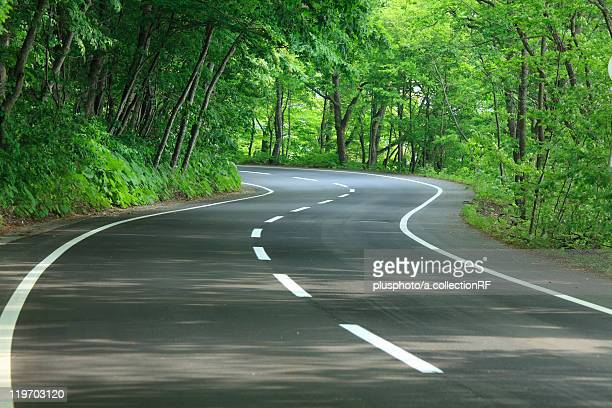 curvy road, aomori prefecture, honshu, japan - plusphoto stock pictures, royalty-free photos & images