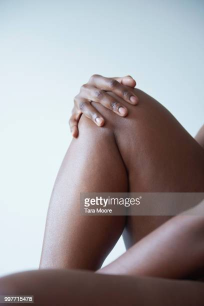 curvy woman - chubby legs stock photos and pictures