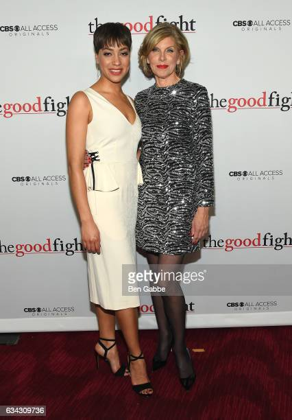 Cush Jumbo and Christine Baranski attends The Good Fight World Premiere at Jazz at Lincoln Center on February 8 2017 in New York City
