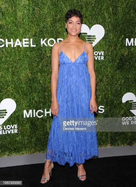 Cush Jumbo attends God's Love We Deliver 12th Annual Golden Heart Awards at Spring Studios on October 16 2018 in New York City