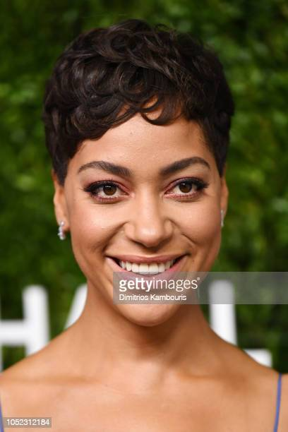 Cush Jumbo attends God's Love We Deliver Golden Heart Awards at Spring Studios on October 16 2018 in New York City
