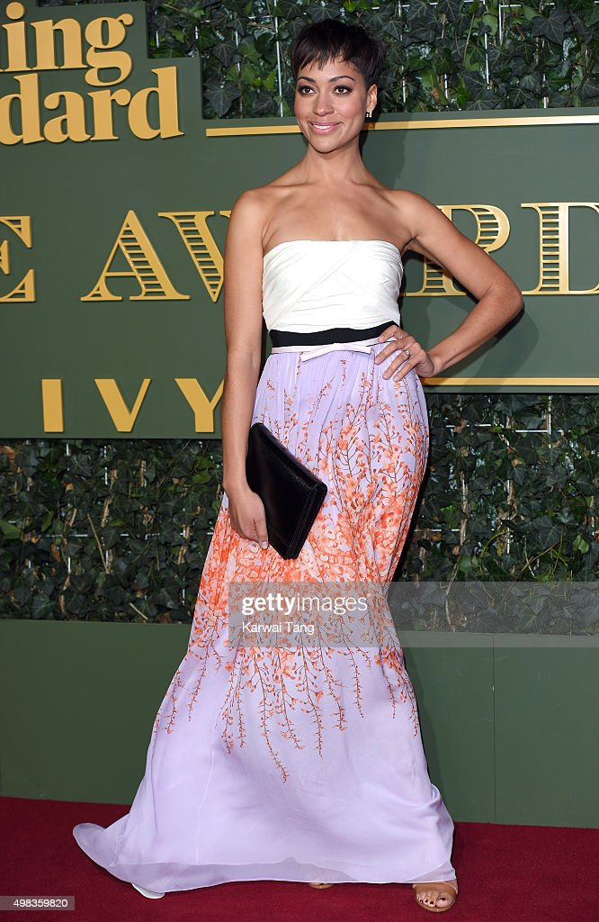 Cush Jumbo attends the Evening Standard Theatre Awards at The Old Vic Theatre on November 22, 2015 in London, England.
