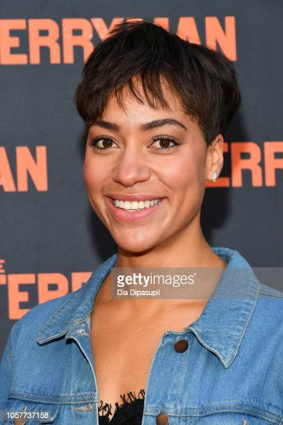 Cush Jumbo attends The Ferryman Broadway opening night at The Bernard B Jacobs Theatre on October 21 2018 in New York City