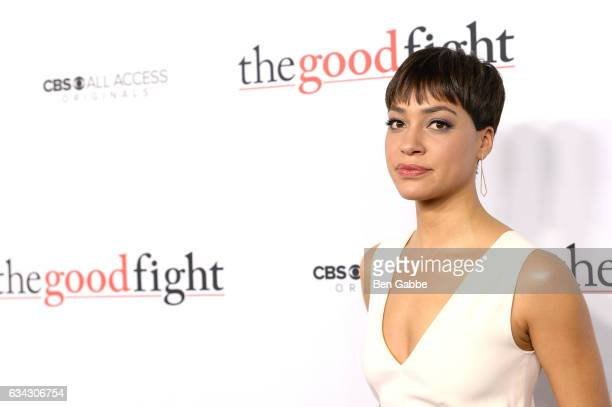 Cush Jumbo attends The Good Fight World Premiere at Jazz at Lincoln Center on February 8 2017 in New York City