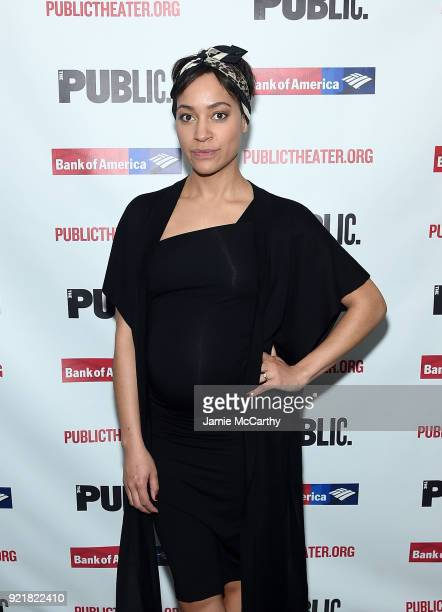 Cush Jumbo attends the Kings Opening Night at The Public Theater on February 20 2018 in New York City