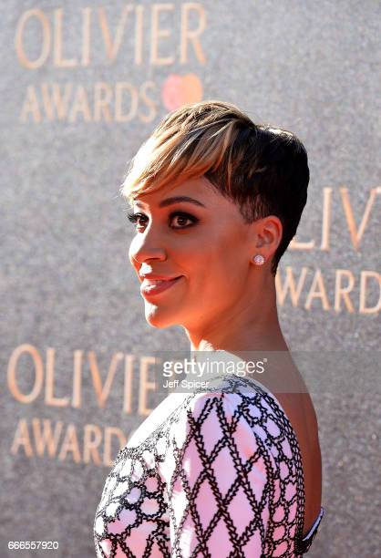 Cush Jumbo attends The Olivier Awards 2017 at Royal Albert Hall on April 9 2017 in London England