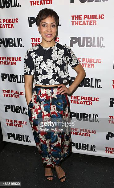 Cush Jumbo attends the Opening Night Performance of 'Josephine and I' at the Public Theatre on March 10 2015 in New York City
