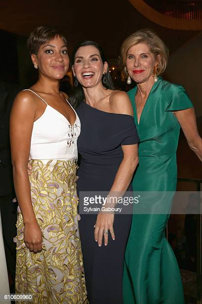 Cush Jumbo Julianna Margulies and Christine Baranski attend Metropolitan Opera Opening Night Gala Premiere of Wagner's 'Tristan und Isolde' at The...